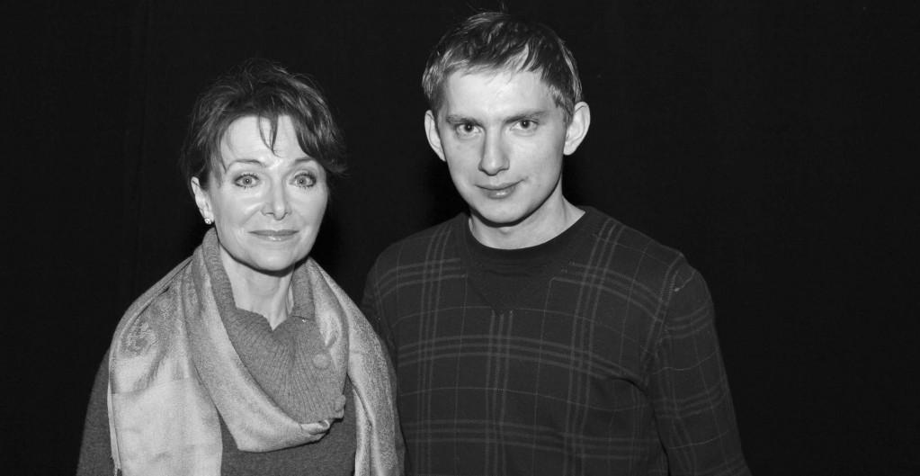 Irena Jarocka i autor wywiadu Michał Majewski.
