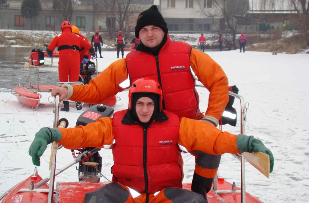 Michał Kawa i Szymon Majewski w trakcie szkolenia.